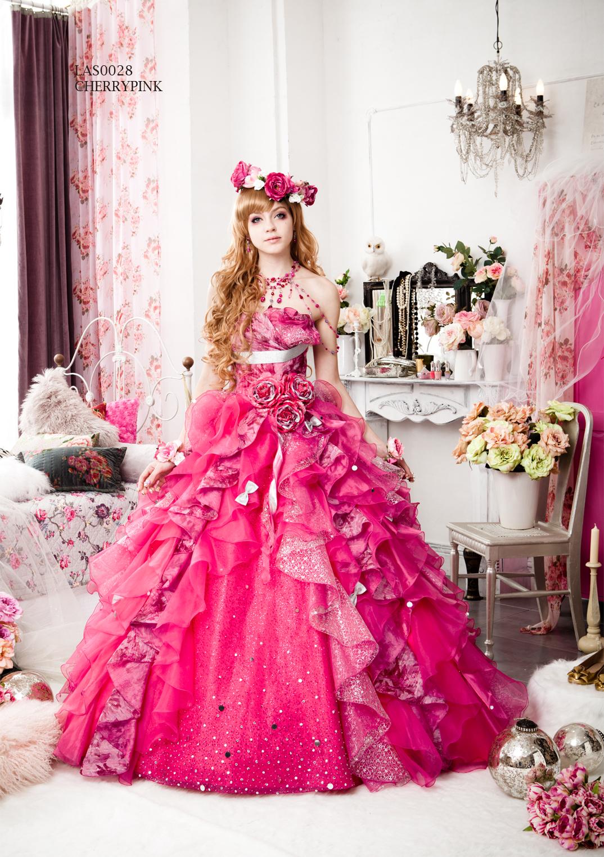 ピンクのカラードレス紹介