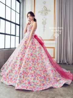 キヨコハタのピンクの金平糖ドレスのレンタル