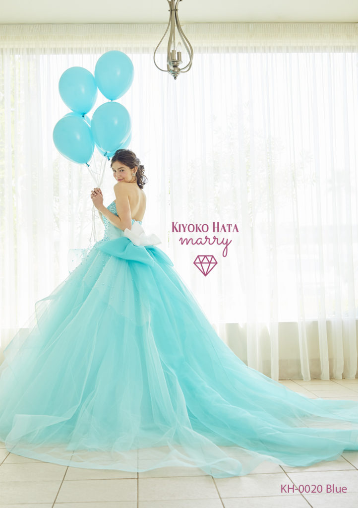 キヨコハタのグリーンの真珠ドレスのレンタル