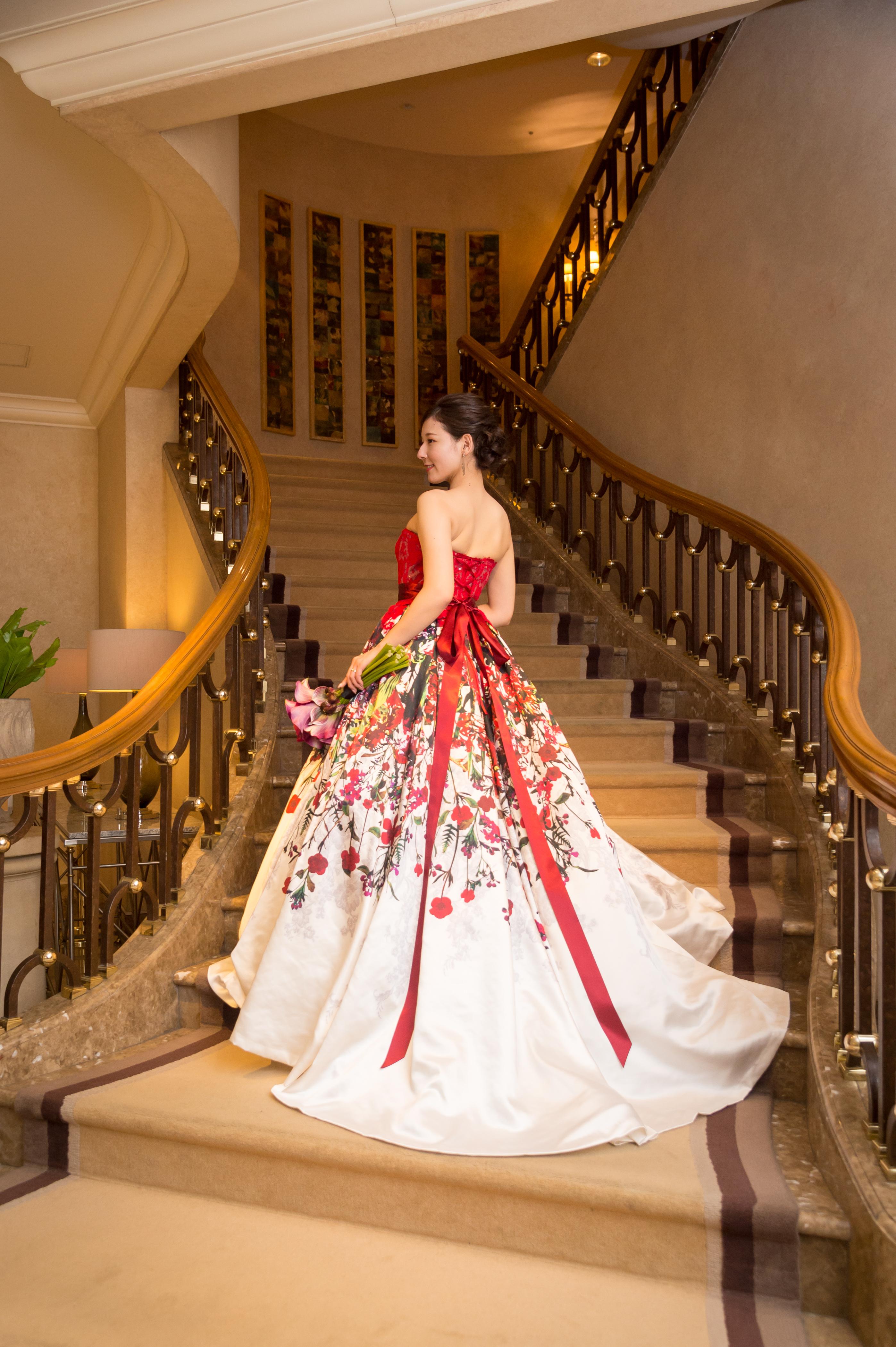 ハーディーエイミスのフラワー柄のドレス HAD-03120