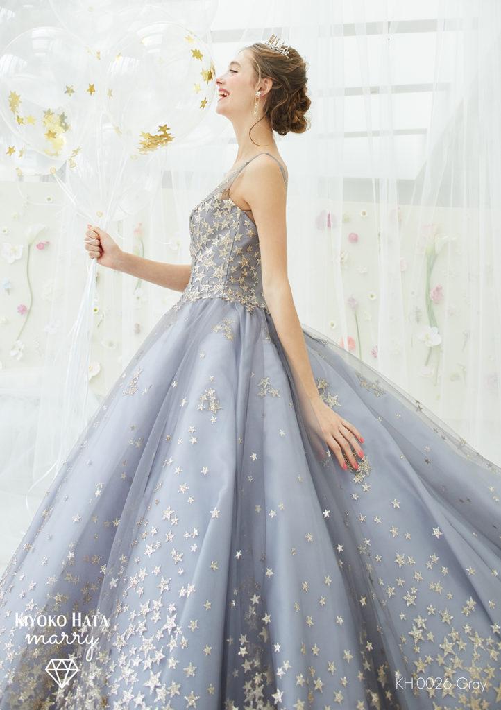 KIYOKOHATA×marry KH-0026 Gray 星ドレス