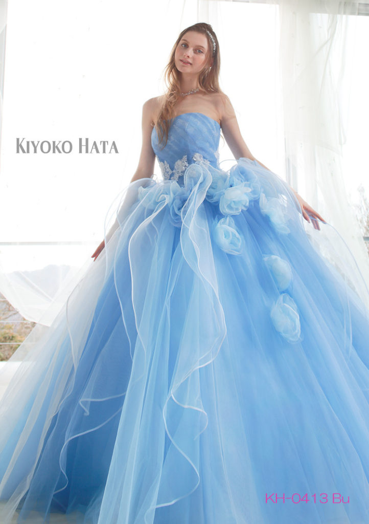 キヨコハタ、カラードレス、レンタル,KIYOKOHATA KH0413 Blue(CD0339)