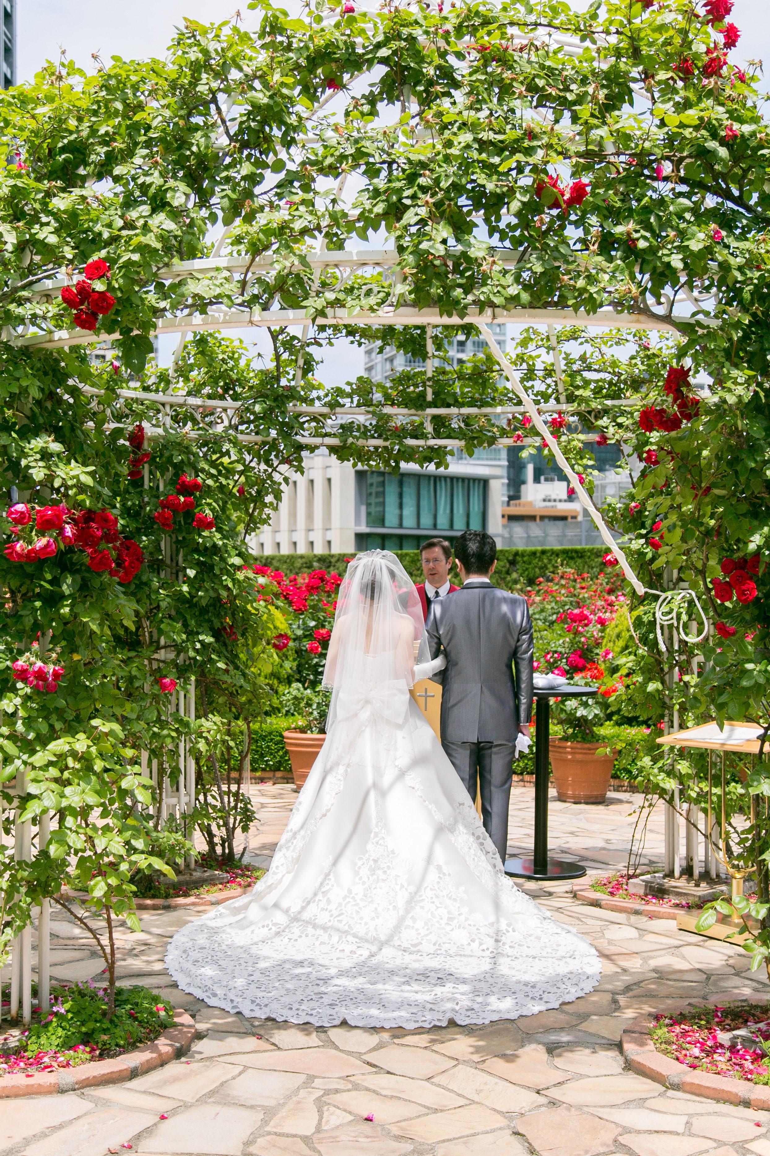 ホテルニューオータニ,ローズガーデン,結婚式,卒花嫁