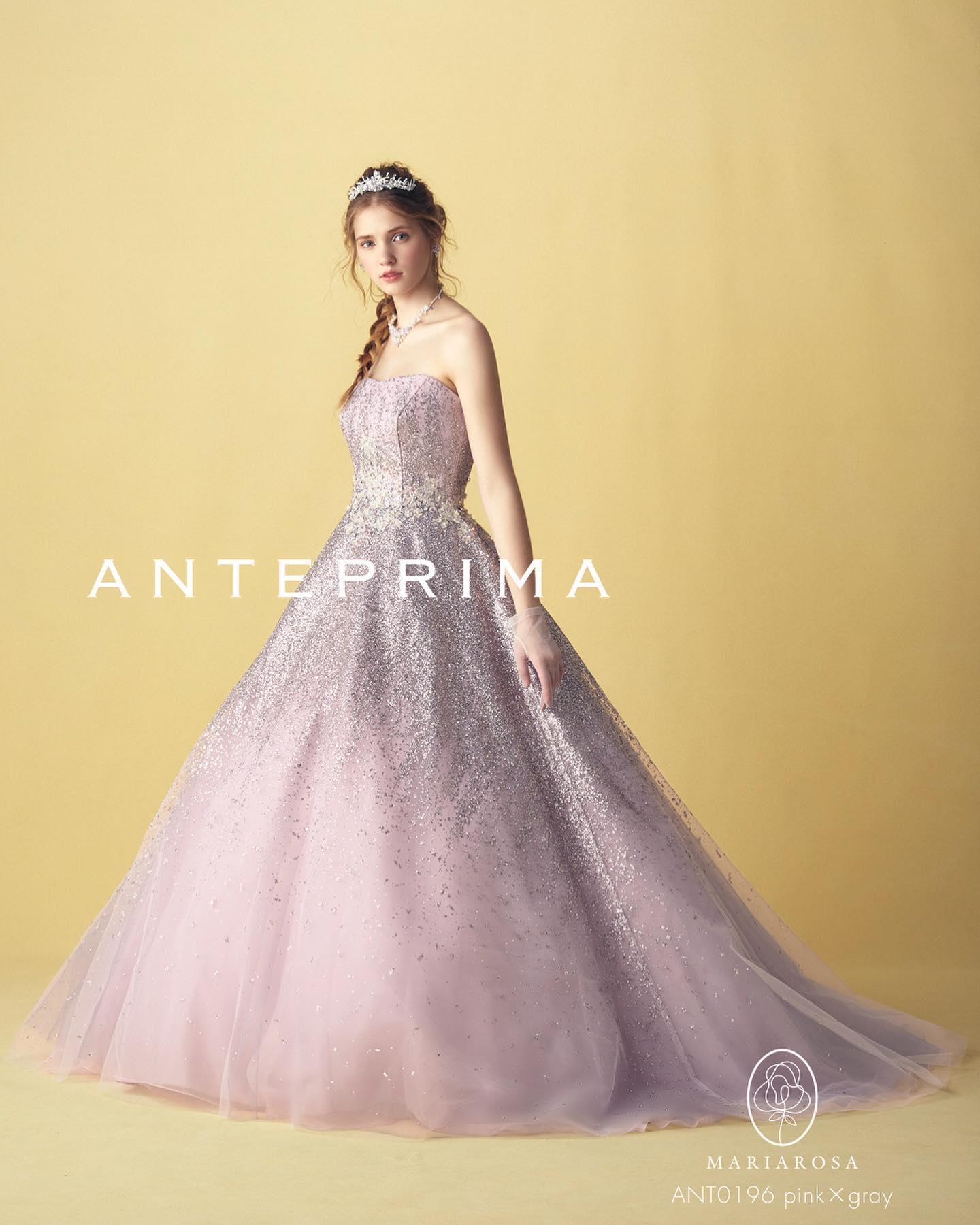 ・本日も大人気のアンテプリマのカラードレスのご紹介・スペシャルな一日を演出する極上のグリッタードレス・美しいシルエットで上品でエレガントな一着ヨークを外してすっきりシンプルにアレンジもできますグレイッシュピンクで大人可愛いスタイリングはいかがでしょうか・ANTEPREMA(アンテプリマ)ANT0196CD0564レンタル料金¥220,000・#wedding #weddingdress #bridalhiro #kiyokohata #anteprema#ウェディングドレス #プレ花嫁 #ドレス試着 #2021夏婚 #2021冬婚 #ヘアメイク #結婚式  #ドレス選び #前撮り #フォトウェディング #ウェディングヘア  #フォト婚 #前撮り写真 #ブライダルフォト #ウェディングドレス探し #ウェディングドレス試着 #レンタルドレス #ドレスショップ #ブライダルヒロ #ゼクシィ #プリンセスライン #ドレス迷子 #キヨコハタ #キヨコハタドレス #アンテプリマ