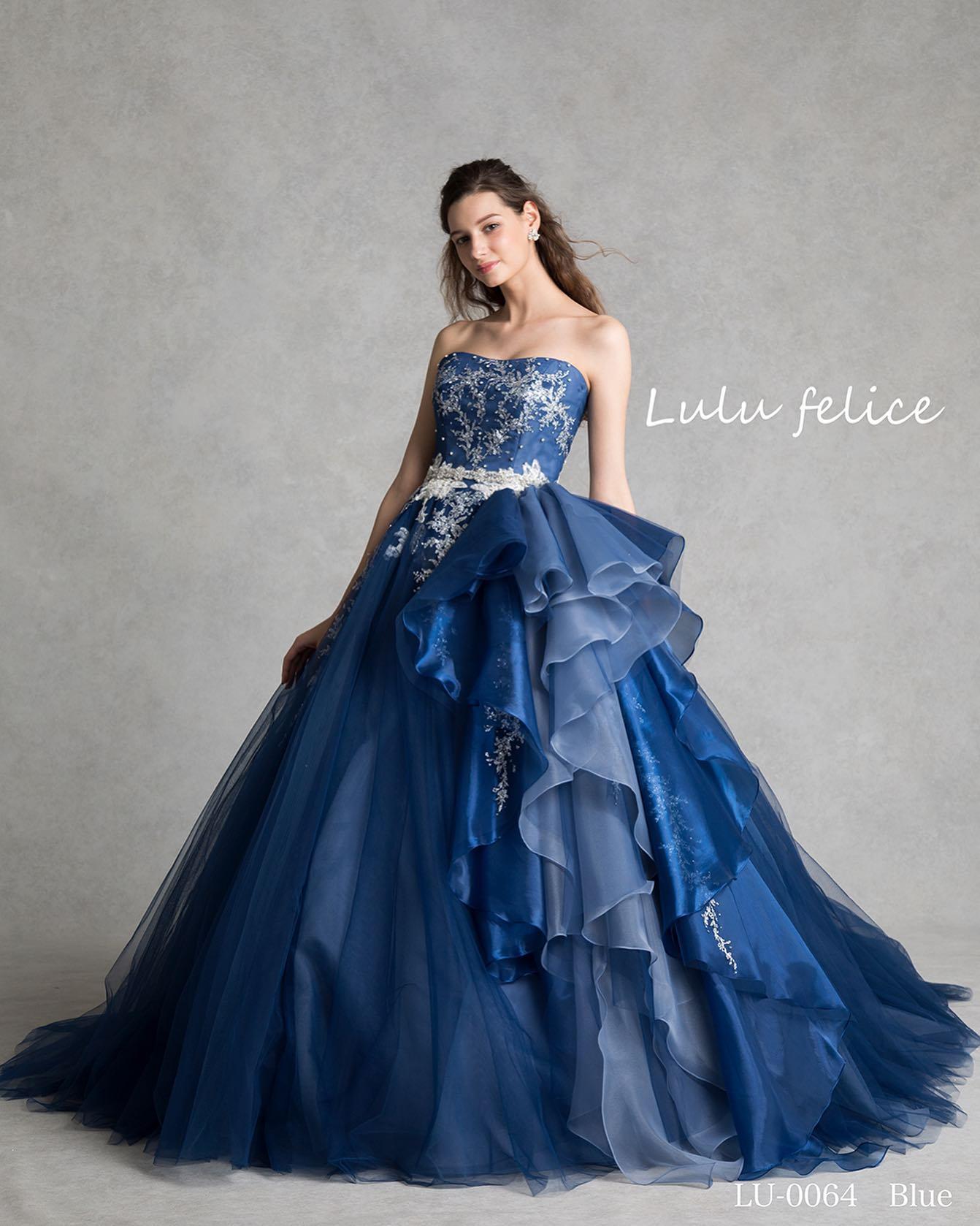 本日はLuLu felice(ルル フェリーチェ)のカラードレスをご紹介・刺繍はシルバーグリッターデザインフリルは取り外し可能な2way腰フリルにしても可愛いデザインです・自分好みのコーディネートを楽しみましょうご予約お待ちしております・【Lulu felice】CD0359 blue LU0064レンタル価格:220,000・#wedding #weddingdress #bridalhiro  #lulufelice#ウェディングドレス #プレ花嫁 #ドレス試着 #2021夏婚 #2021冬婚 #ヘアメイク #結婚式  #ドレス選び #前撮り #後撮り #フォトウェディング #ウェディングヘア  #フォト婚 #前撮り写真 #ブライダルフォト #カップルフォト #ウェディングドレス探し #ウェディングドレス試着 #レンタルドレス #ドレスショップ #家族婚 #ブライダルヒロ #ゼクシィ #プリンセスライン #ドレス迷子 #ルルフェリーチェ